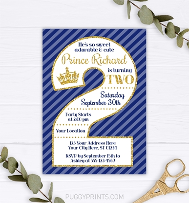 Picture of Prince 2nd Birthday Invitation