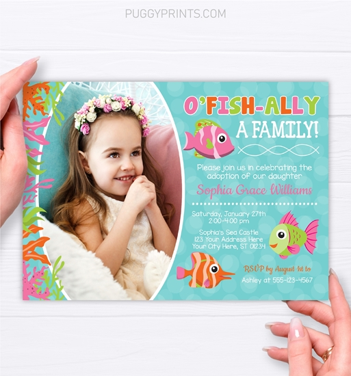 Picture of Under the Sea Adoption Party Invitation