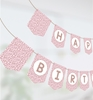 Picture of Cheetah Happy Birthday Banner in Rose Gold
