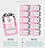 Picture of Cow Birthday Favor Tags in Pink
