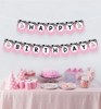 Picture of Cow Happy Birthday Banner in Pink